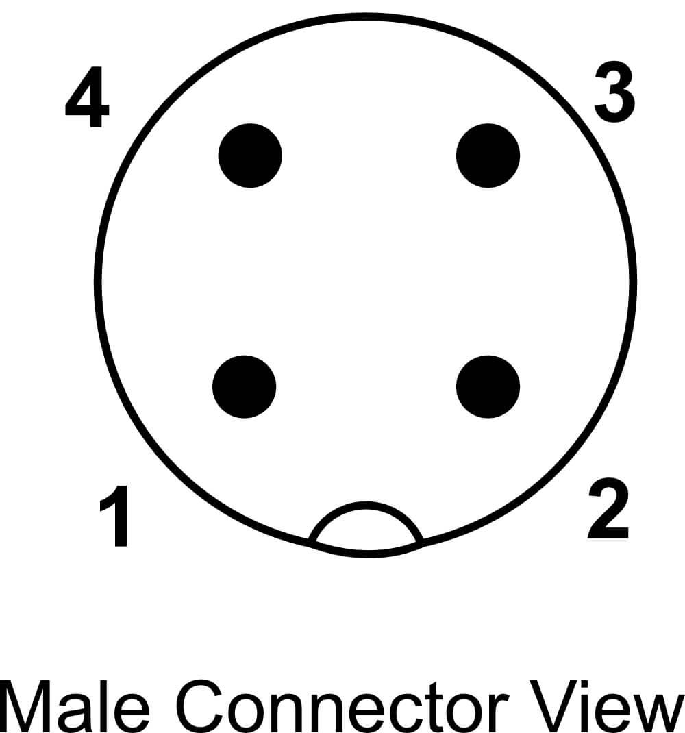 connettore maschio
