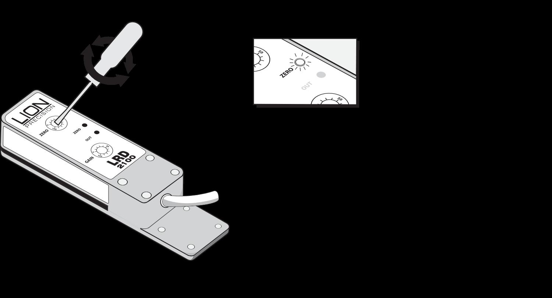 Regolazione dell'LRD2100 Passaggio 3