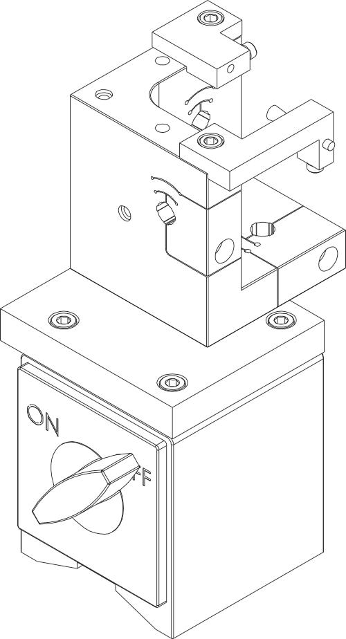 附录E:完整的磁性基座探头套组件(带接地刷)