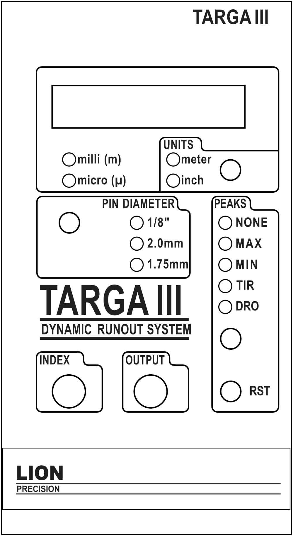 Targa III Frontsteuerungen